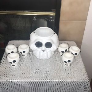 Large Skull Bucket and 6 Mini Skull Buckets